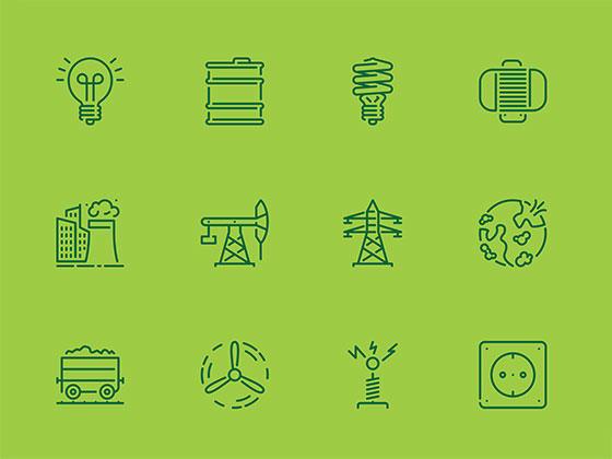 20 枚能源图标-uikit.me