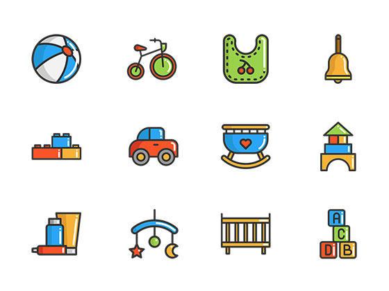 50 枚小孩元素图标-uikit.me