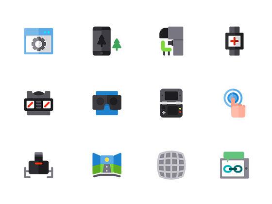 50 枚虚拟现实图标-uikit.me