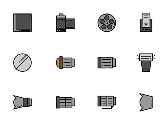 50 枚摄影器材图标-uikit.me