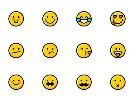 50 枚 Emoji 图标-uikit.me
