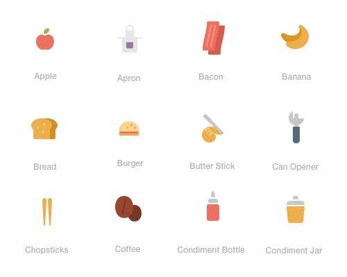 100 枚 餐饮类Sketch图标-uikit.me
