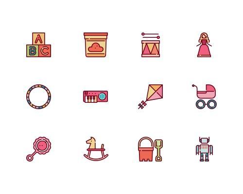 30 枚玩具Sketch图标-uikit.me
