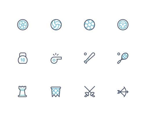 40 枚体育运动Sketch图标-uikit.me