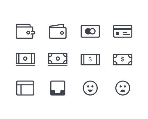 12 枚金融Sketch图标-uikit.me