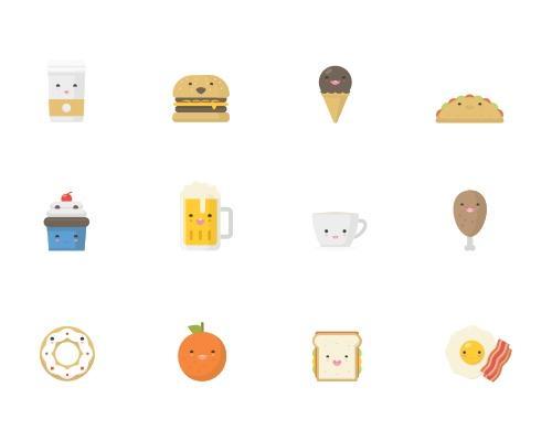 20 枚欢乐食物Sketch图标-uikit.me