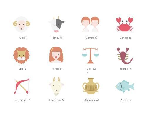 12 枚星座Sketch图标-uikit.me