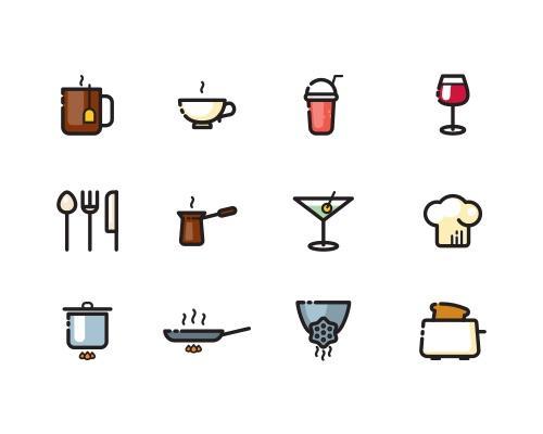 60枚食物相关Sketch图标-uikit.me