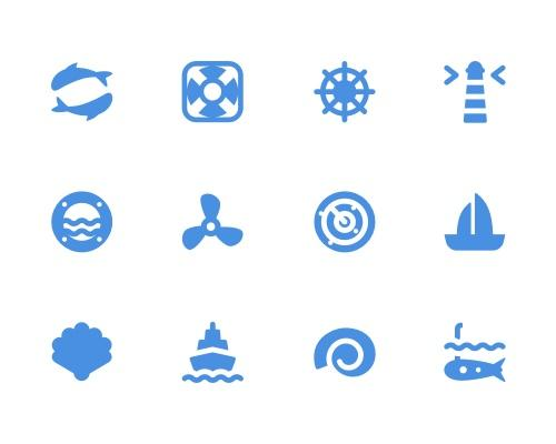 30 枚航海Sketch图标-uikit.me