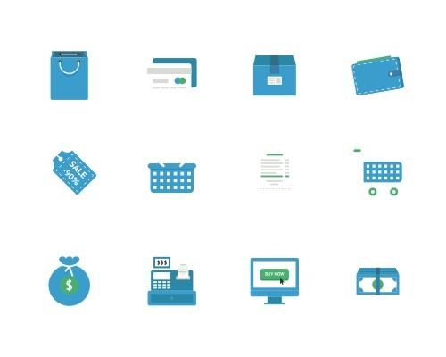 20 枚蓝色金融相关Sketch图标-uikit.me