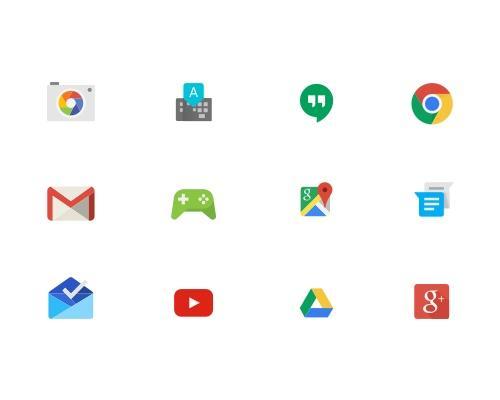 18 枚Google相关Sketch图标-uikit.me