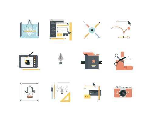 16 枚创意领域Sketch图标-uikit.me