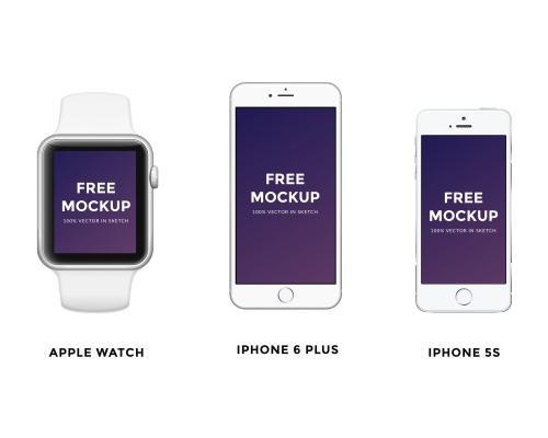 iPhone/iWatch_Mockup模型-uikit.me