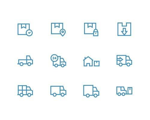 30 枚逻辑线框图标-uikit.me