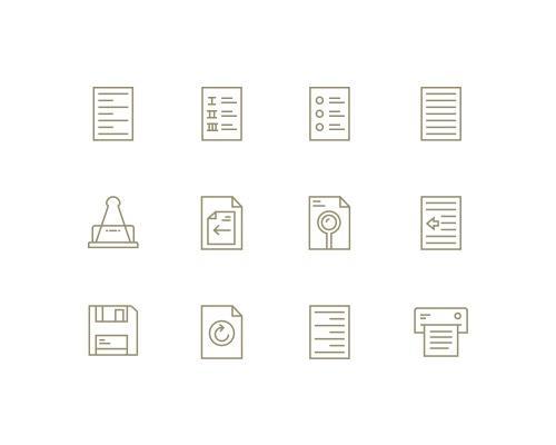 40 枚文本编辑线框图标-uikit.me