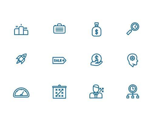 50 枚产品线框图标-uikit.me