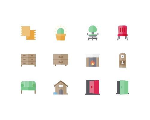 50 枚家具相关图标-uikit.me