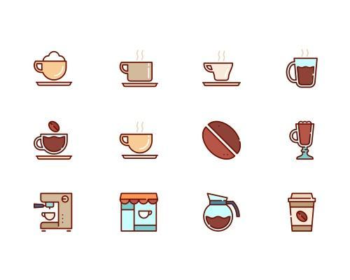 50 枚咖啡相关图标-uikit.me