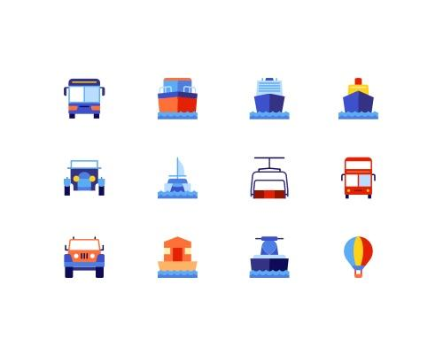 50 枚运输设备图标-uikit.me