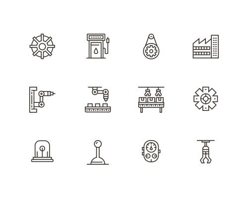 60 枚工业线框图标-uikit.me