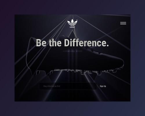 Adidas Landing Page-uikit.me