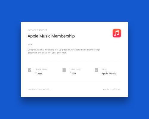 Apple Music Email Receipt-uikit.me