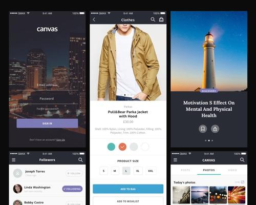 Canvas UI Kit-uikit.me