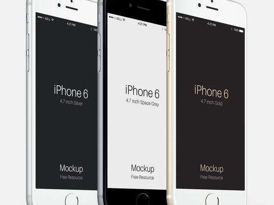 iPhone 6展示模型PSD-uikit.me