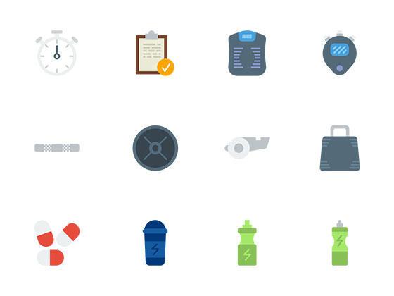 40 枚健身元素图标-uikit.me