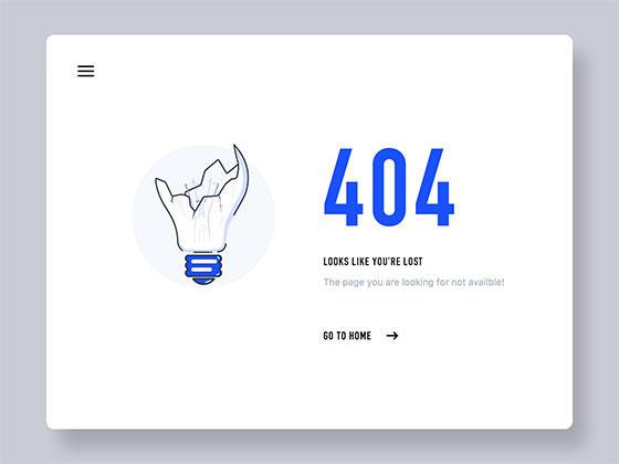 灯泡 404 页面-uikit.me