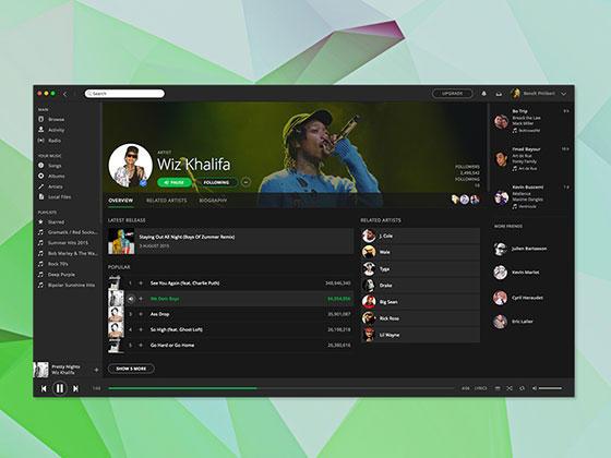 Spotify Mac App-uikit.me