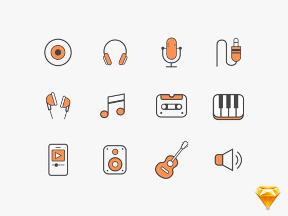 音乐 icon-uikit.me