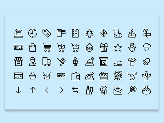christmas and shopping icon2-uikit.me