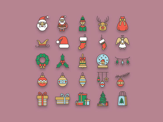 Lovely Christmas Icons-uikit.me