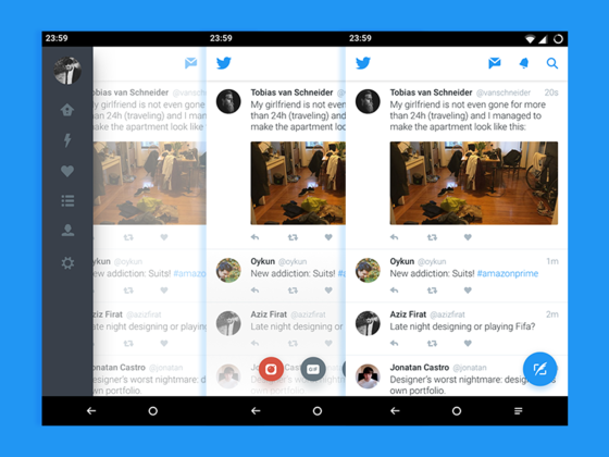 Twitter for Android Concept-uikit.me