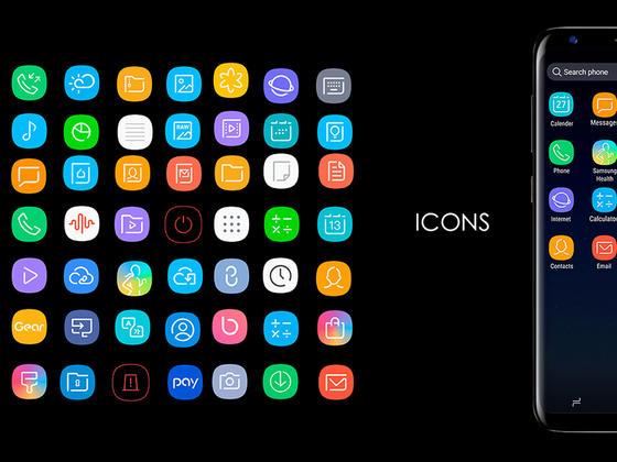 三星S8 系统icon-uikit.me