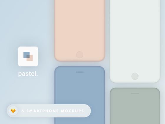 彩色手机模型底板-uikit.me