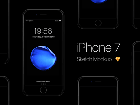 iPhone 7 Mockup (Sketch)-uikit.me