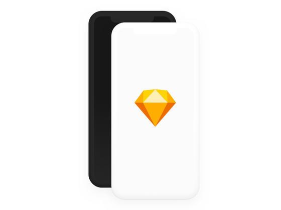 iPhone X 素模型(Sketch)-uikit.me
