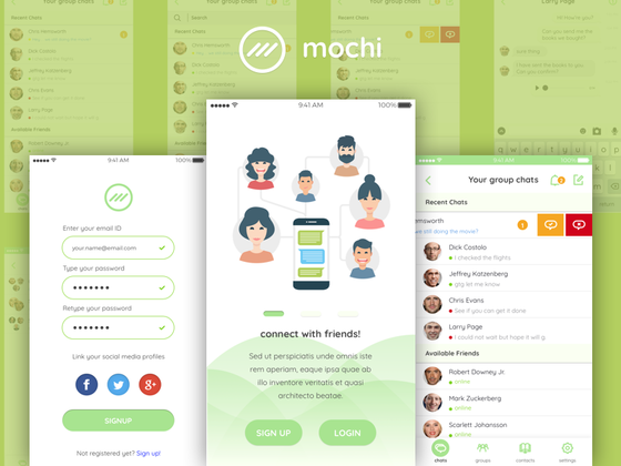 Mochi — Chat UI Kit-uikit.me